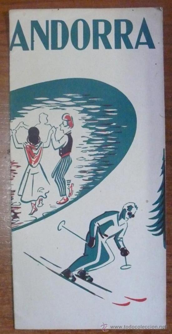 FOLLETO DE TURISMO. ANDORRA.1954. (Coleccionismo - Folletos de Turismo)