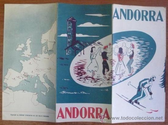 Folletos de turismo: FOLLETO DE TURISMO. ANDORRA.1954. - Foto 2 - 29453294