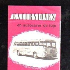 Folletos de turismo: FOLLETO DE TURISMO EXCURSIONES EN AUTOCARES DE LUJO. LES VOYAGES BELGES. Lote 29484952