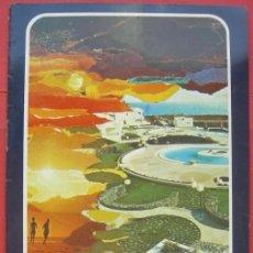 Folletos de turismo: FOLLETO PUBLICITARIO. LOS MOLINOS. COSTA TEGUISE. LANZAROTE. AÑO 1977. Lote 29539006