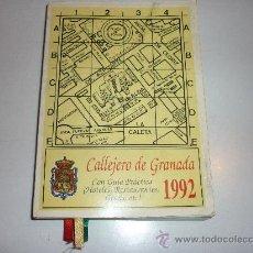 Folletos de turismo: CALLEJERO DE GRANADA , GUIA COMERCIAL 1992. Lote 29971025