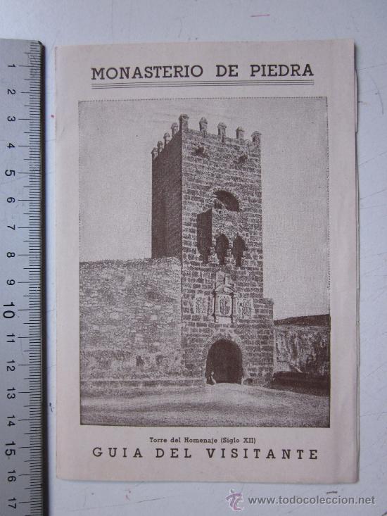 MONASTERIO DE PIEDRA, ZARAGOZA - GUIA DEL VISITANTE - AÑO 1944 (Coleccionismo - Folletos de Turismo)