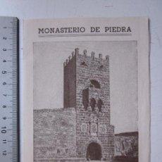 Folletos de turismo: MONASTERIO DE PIEDRA, ZARAGOZA - GUIA DEL VISITANTE - AÑO 1944. Lote 29808029