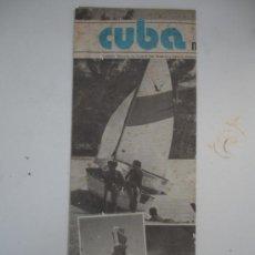 Folletos de turismo: CUBA 1980. Lote 30210220