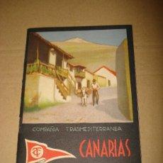 Folletos de turismo: LIBRITO FOLLETO TURÍSTICO COMPAÑÍA TRANSMEDITERRANEA *CANARIAS* DEL AÑO 1933-34 REPUBLICA ESPAÑOLA.. Lote 30217739