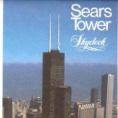 Folletos de turismo: SEARS TOWER. CHICAGO. DESPLEGABLE ( 18'5 X9 / 37 X 37 CMTRS.) . Lote 30360043
