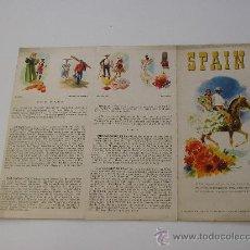 Folletos de turismo: FOLLETO TURISTICO DE SPAIN. EN INGLES. AÑOS 60. Lote 30701624