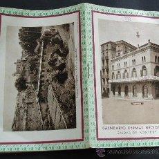 Folletos de turismo: CIRCA 1915 * BALNEARIO TERMAL BROQUETAS CALDES DE MONTBUI FOLLETO ILUSTRADO. Lote 30852759