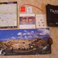 Folletos de turismo: BOLSA CON DIFERENTES OBJETOS SOBRE TOLEDO. TODO NUEVO. Lote 31062043