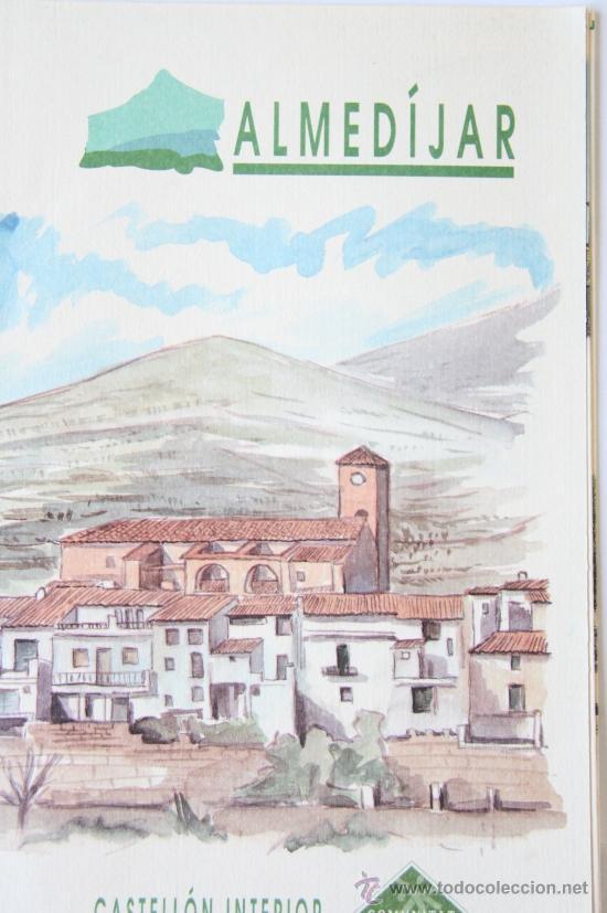 FOLLETO MAPA DESPLEGABLE PLANO ALMEDIJAR AGENCIA VALENCIANA DE TURISMO (Coleccionismo - Folletos de Turismo)