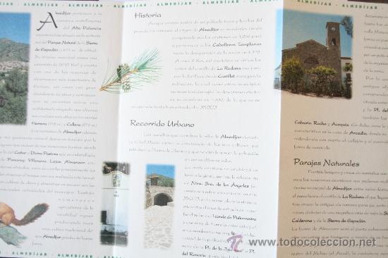 Folletos de turismo: FOLLETO MAPA DESPLEGABLE PLANO ALMEDIJAR AGENCIA VALENCIANA DE TURISMO - Foto 2 - 31401939