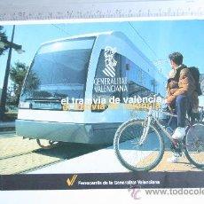 Folletos de turismo: FOLLETO UTILIZACION TRANVIA METRO VALENCIA FERROCARRILES GENERALITAT VALENCIANA FGV 1994 . Lote 43761358