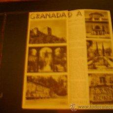 Brochures de tourisme: TRÍPTICO TURÍSTICO DE GRANADA. Lote 31570010