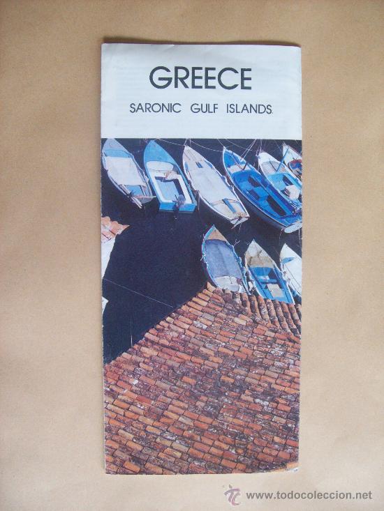 GREECE SARONIC GULF ISLAND. 1988 (Coleccionismo - Folletos de Turismo)