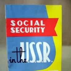 Folletos de turismo: GUIA, U.R.S.S. SECTION, 1958, SOCIAL SECURITY, EXPOSICION UNIVERSAL DE BRUSELAS. Lote 31794331