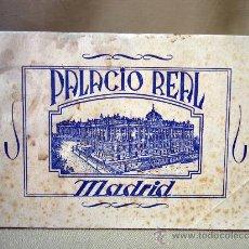 Folletos de turismo: FOLLETO TURISTICO, CUADERNO FOTOGRAFICO, PALACIO REAL DE MADRID, LAMINAS 17 X 12 CM. Lote 32091937