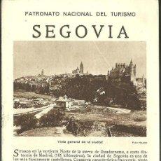 Folletos de turismo: SEGOVIA FOLLETO DEL PATRONATO NACIONAL DE TURISMO AÑOS 20. Lote 32016846