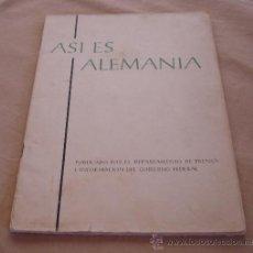 Folletos de turismo: ASI ES ALEMANIA, 1959.. Lote 32320420