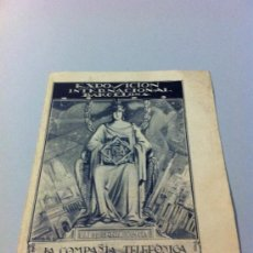 Folletos de turismo: EXPOSICION INTERNACIONAL BARCELONA 1929. Lote 32408118
