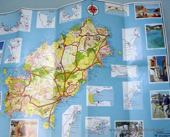 Folletos de turismo: MAPA DE LA ISLA DE IBIZA. AÑOS 80. FOLLETO TURISMO. ISLAS BALEARES - Foto 2 - 32522620