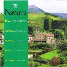 Folletos de turismo: NAVARRA - PIRINEOS ATLÁNTICOS - SITUACIÓN Y COMUNICACIONES. Lote 32530873