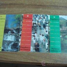 Folletos de turismo: LOTE DE TRES FOLLETOS DESPLEGABLES.-NAVARRA,SIERRAS DE ARALAR Y URBASA.-NAVARRA,PIRINEOS ATLANTICOS.. Lote 32705459