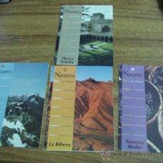 Folletos de turismo: LOTE DE 4 FOLLETOS DESPLEGABLES.-NAVARRA,NAVARRA MEDIA.-LA RIBERA.-PIRINEOS ORIENTALES Y TIERRA . Lote 32705471