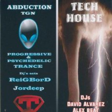 Folhetos de turismo: HOJA FOLLETO SESION DJ SALA GOLFUS DE TARRAGONA 3 - 4 Y 10 AGOSTO 2012. Lote 32812426