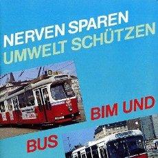 Folletos de turismo: FOLLETO 1989 - 24 PGS - TRANSPORTE PUBLICO WIEN / AUSTRIA - FERROCARRIL AUTOBUS TREN. Lote 32949904