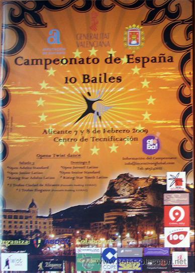 ALICANTE CAMPEONATO DE ESPAÑA 10 BAILES -ALICANTE 2009 FOLLETO 20 PAGINAS (Coleccionismo - Folletos de Turismo)