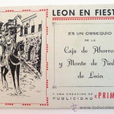 Folletos de turismo: LEON EN FIESTAS. PROGRAMA DE FIESTAS 1957.. Lote 33210283