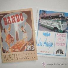 Folletos de turismo: REVISTA BANDO DE LA HUERTA, FIESTAS DE PRIMAVERA DE MURCIA, 1993. NUEVO, MÁS FOLLETO PEÑA LOS AMIGOS. Lote 33377958