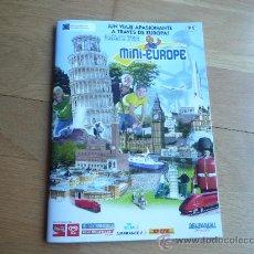Folletos de turismo: FOLLETO TURISTICO DEL PARQUE MINI EUROPA EN BRUSELAS. NUEVO.. Lote 33289828