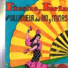 Folletos de turismo: FIESTAS Y FERIAS EN VILLANUEVA DEL RIO Y MINAS, MAYO 1965, PROGRAMA, PUBLICIDAD. Lote 33990609