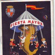 Folletos de turismo: BADALONA FIESTA MAYOR DE 1958 (LEER). Lote 34639332