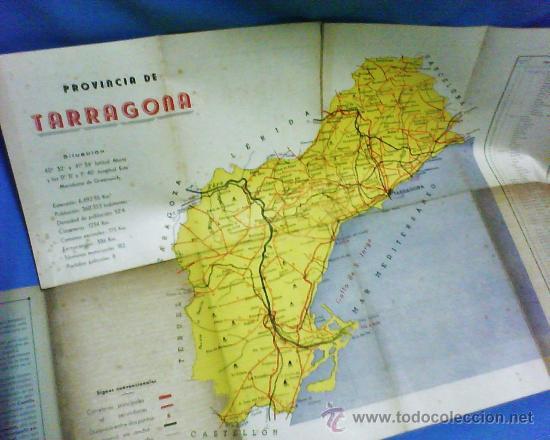Folletos de turismo: mapa-guia provincia tarragona.- lineas de autobuses / autocares.- ed. gar-al.- años 40.- tgn - Foto 2 - 20758553