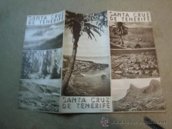 FOLLETO DE TURISMO SANTA CRUZ DE TENERIFE (Coleccionismo - Folletos de Turismo)