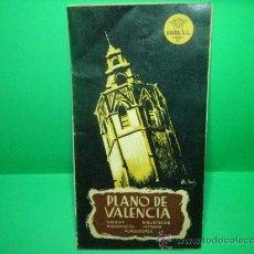 Folletos de turismo: PLANO GUIA DE VALENCIA - AÑO 1958. Lote 34899569