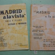 Folletos de turismo: 2 FOLLETOS GUIA Y PLANO MADRID A LA VISTA AÑOS 50 VER FOTOS ADICIONALES. Lote 35065149