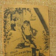 Folletos de turismo: FALLAS VALENCIA LLIBRET DE LA FALLA PRIMADO REIG-SAN VICENTE PAUL 1986. Lote 35524385