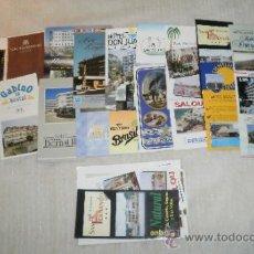 Folletos de turismo: FOLLETOS DE HOTELES. AÑOS 70-80-90, 19 DIFERENTES. Lote 35723879