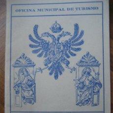 Folletos de turismo: TOLEDO. OFICINA MUNICIPAL DE TURISMO. TARJETA DE VISITA A LOS MONUMENTOS.. Lote 35638736
