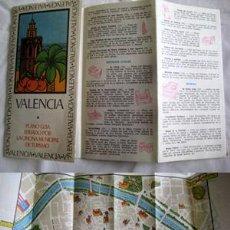Folletos de turismo: FOLLETO PUBLICIDAD : VALENCIA, PLANO GUÍA. 1975. Lote 35632535