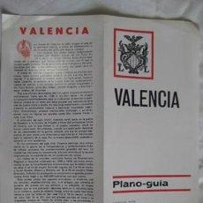 Folletos de turismo: FOLLETO PUBLICIDAD : VALENCIA. PLANO-GUÍA. 1969. Lote 35638822