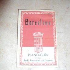 Folletos de turismo: ANTIGUO PLANO GUIA DE BARCELONA - JUNTA PROVINCIAL DE TURISMO. Lote 35686973