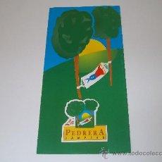 Folletos de turismo: CAMPING LA PEDRERA. Lote 35977817