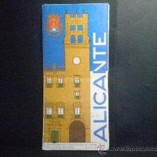 Foglietti di turismo: MAPA PLANO GUIA DE ALICANTE. Lote 37185084