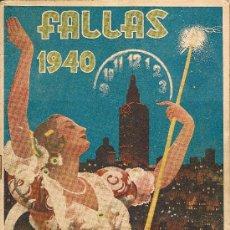 Folletos de turismo: FALLAS VALENCIA - 1940 - PROGRAMA OFICIAL DE FIESTAS. Lote 36149925