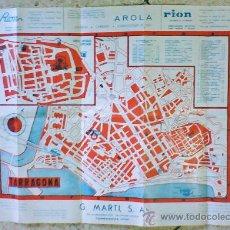 Folletos de turismo: PLANO DE TARRAGONA - DORSO MAPA DE LA PROVINCIA - PUBLICITARIO - 65 X 44 - VER FOTO - TGN - AÑOS 60. Lote 36232166