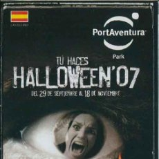 Folletos de turismo: FOLLETO GUIA PARQUE TEMATICO PORT AVENTURA HALLOWEEN 2007. Lote 36526696